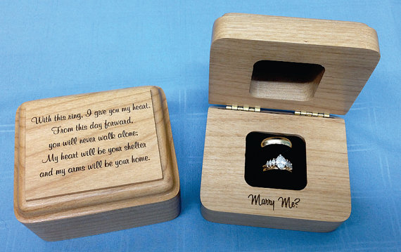 wedding ring holder 10 unique engagement ring boxes for the big moment 9959