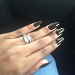 Dolapo Oni's Oval Cut Diamond Ring