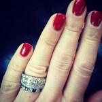 Mary Davis' Round Cut Diamond Ring