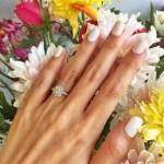 Diana Zubiri's Flower Shaped Diamond Ring