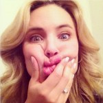 Leah Pipes' Square Shaped Diamond Ring