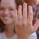 Maddie Brown's Round Cut Blue Diamond Ring