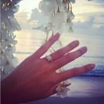 Regine Angeles' Square Shaped Diamond Ring