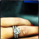 Stephanie Anderson's Princess Cut Diamond Ring