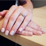 Georgia Horsley's Square Shaped Diamond Ring