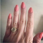 Kimberley Walsh's Round Cut Diamond Ring
