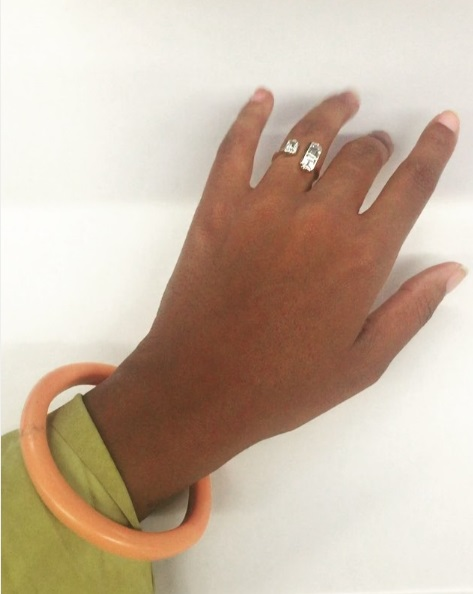 Solange Knowles' Traditional Art-Deco Inspired Diamond Ring