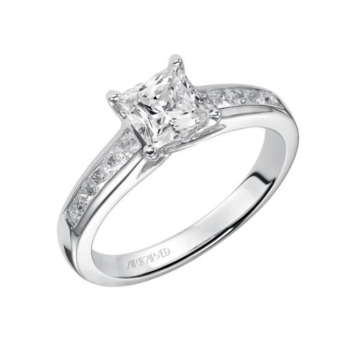 princess-cut-engagement-rings-Art-Carved-31-V410ECW