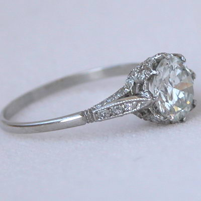 solitaire diamond engagement ring circa jewellery edwardian antique rings