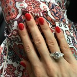 Nastya Shubskaya's Round Cut Diamond Ring