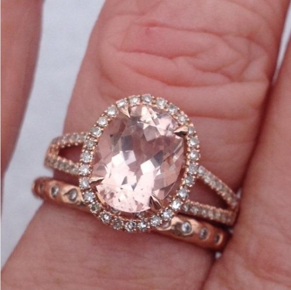 ... Melissa Gilbertu0027s Oval Cut Diamond Ring