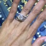 Ashley Everett's Round Cut Diamond Ring