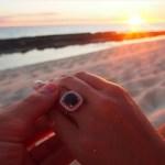 Audrey Griffen's Cushion Cut Black Diamond Ring