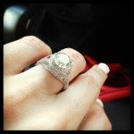Jenna Michelle Kennedy's Round Cut Diamond Ring