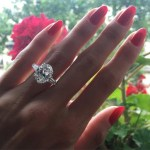 Selma Alameri's Oval Cut Diamond Ring