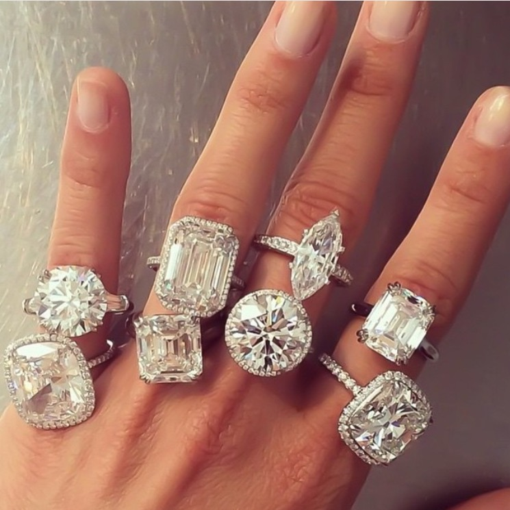 Round Thick Engagement Ring