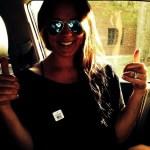Sara Evans' Square Shaped Diamond Ring