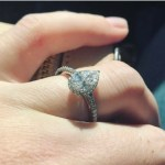 Jenelle Evans' Pear Shaped Diamond Ring