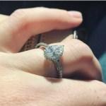 Jenelle Evans' Pear Shaped Diamond Ring