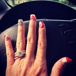 Michelle McCool's Square Shaped Diamond Ring