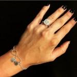 Rosa Mendes' Cushion Cut Diamond Ring