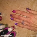 Samantha Harris' Cushion Cut Diamond Ring