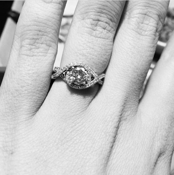 Santana Bordelon's Round Cut Diamond Ring