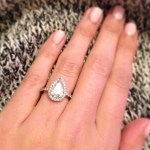 Amber Dallas' Pear Shaped Diamond Ring
