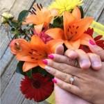 Claudia Conaglen's Round Cut Diamond Ring