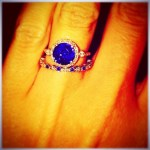 Crystal Hoyt's Round Cut Sapphire Ring