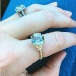 Daisy Aitken's Cushion Cut Diamond Ring
