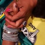 Basetsana Kumalo's Emerald Cut Sapphire Ring