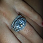 Emily MacDonagh's Cushion Cut Diamond Ring