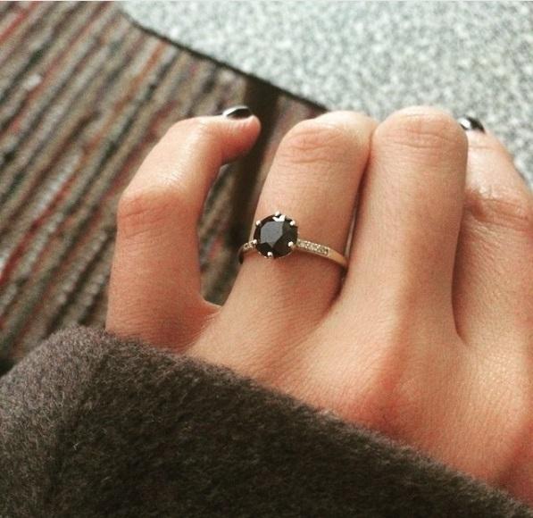 Kanoa Lloyd S Round Cut Black Diamond Ring