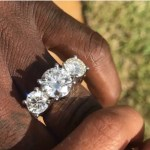 Gucci Mane's Three-Stone Engagement Ring