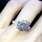Sarah Stage's Round Cut Diamond Ring
