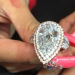 Cardi B's 8-Carat Pear Shaped Diamond Ring