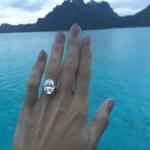 Caroline Wozniacki's Oval Cut Diamond Ring
