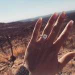 Keleigh Sperry's Square Shaped Diamond Ring