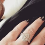 Holly Combs' Marquise Shaped Diamond Ring