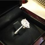 Kaley Cuoco's Pear Shaped Diamond Ring