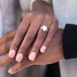 Afiya Bennett's Pear Shaped Diamond Ring