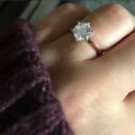 Camilla Luddington's Round Cut Diamond Ring