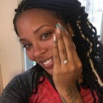 Eva Marcille's Round Cut Diamond Ring