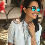 Anita Hassanandani's Square Shaped Diamond Ring