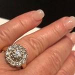 Kerre Woodham's Flower Shaped Diamond Ring