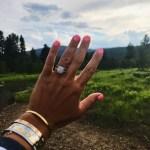 Julie Fish's Cushion Cut Diamond Ring