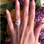 Cheryl Burke's Round Cut Diamond Ring