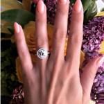 Cheryl Burke's Round Cut Diamond Ring