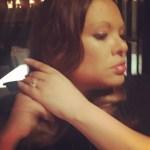 Justine Simmons' Round Cut Diamond Ring